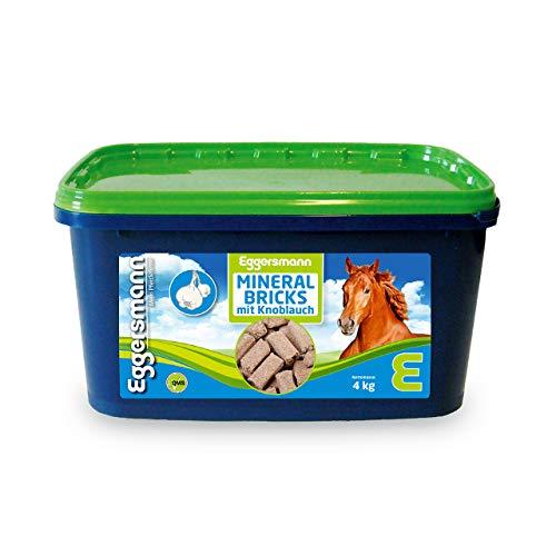 Eggersmann Mineral Bricks Knoblauch – Mineralfuttermittel für Pferde – Mineralfutter mit Knoblauchzusatz – 4 kg Eimer
