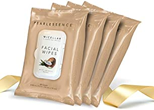 Micellar Cleansing Facial Makeup Remover Wipes w/ Coconut Water, 60 Count (4 Pack)