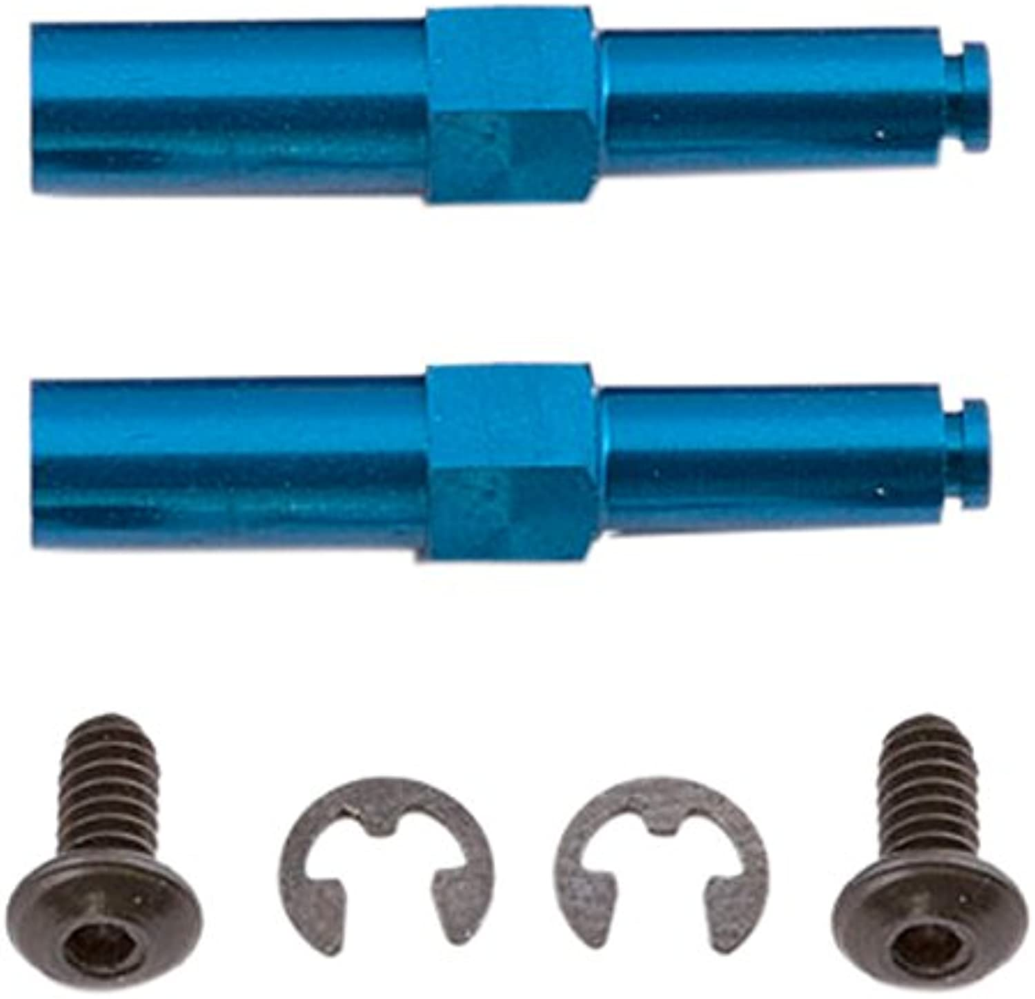 Team Associated 1585 Factory Center Drilled Aluminum Axle, bluee