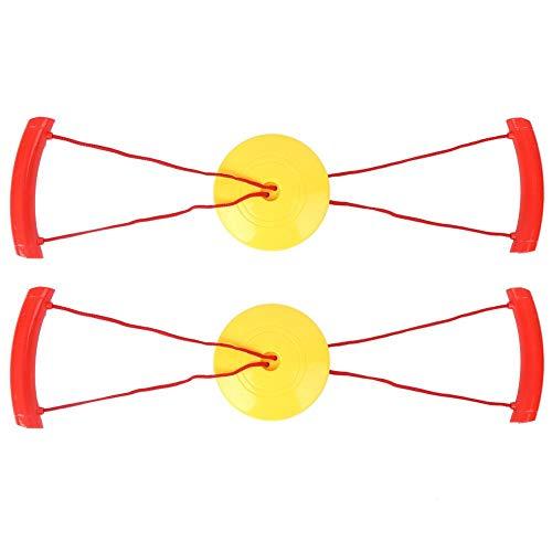 VGEBY 2 Stück Kinder ziehen Bälle Spielzeug, Kid Interactive Ziehen Bälle Brust Expander Übung Zugplatte(Gelb)