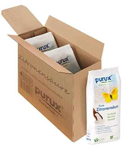 Purux Zitronensäure Pulver 2550g, Lebensmittelqualität, gentechnikfrei