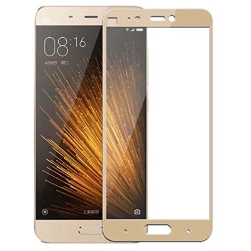 Granadatech Cristal Templado para Xiaomi Mi5S Plus Dorado [Cubre el Borde Biselado] l Protector de Pantalla, Calidad HD, Alta Resistencia a Golpes 9H - Sin Burbujas