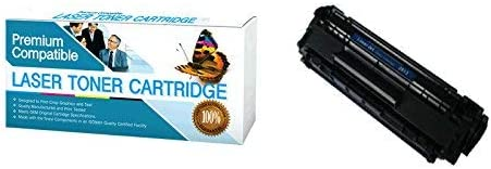 Compatible Replacement for HP Q2612A, Canon 104, FX-9, FX-10 Toner Cartridge.