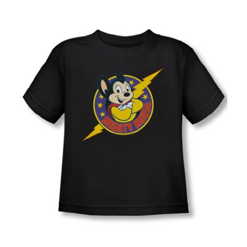 Mighty Mouse - - Toddler T-Shirt puissant héros In Black, 3T, Black