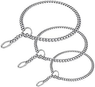 Petsvv Heavy Chain Dog Training Choke Collar for Growing Dogs