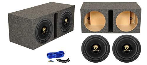 (2) Rockville W15K9D2 15' 10,000w Car Audio Subwoofers+Vented Sub Box Enclosure
