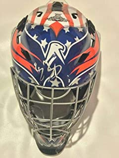 BRADEN HOLTBY SIGNED FULL-SIZE WASHINGTON CAPITALS GOALIE MASK HELMET 2018 STANLEY CUP PROOF