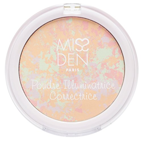MISS DEN - Poudre Illuminatrice Correctrice Teint Parfait – Highlighter – Diminue Les Imperfections