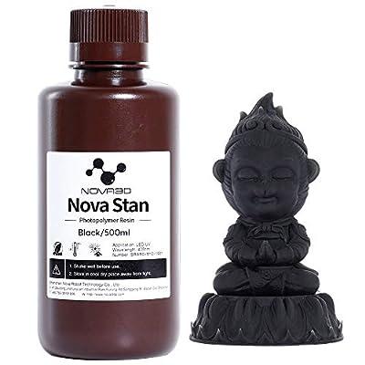 NOVA3D LCD UV Resin 405nm Rapid Resin for 3D Printer Photopolymer Resin Black 500g