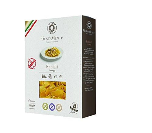 GustaMente Ravioli ai formaggi - senza glutine - 3 Confezioni da 250 g