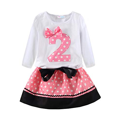 "Mud Kingdom Baby Mädchen Dritter Geburtstag Outfit Mädchen Cute 3 Langarm 24 Monats (31/35""/21/28 lbs) 2"" Rosa"