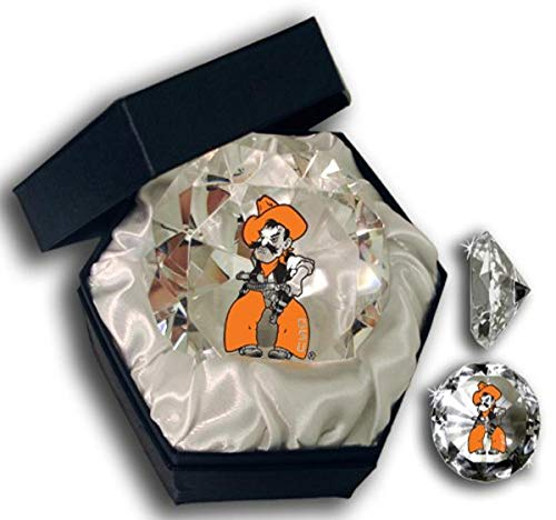 Sports Collector's Guild NCAA Oklahoma State University Cowboys Logo auf einem 10,2 cm hohen Brillanz-Kristall-Briefbeschwerer