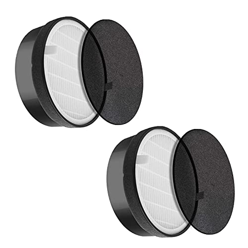 iAmoy Filtro HEPA LV-H132 de repuesto y juego de filtros de carbón activado compatibles con el purificador de aire Levoit LV-H132-RF, paquete de 2