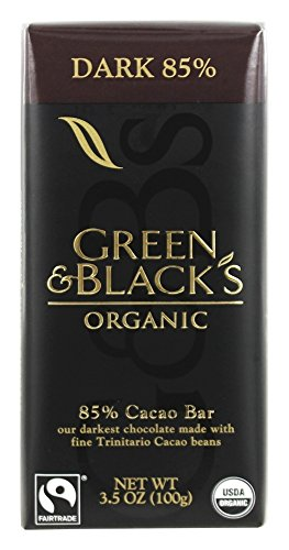 Green & Black's Organic - Dark Chocolate Bar 85% Cocoa - 3.5 oz (pack of 2)