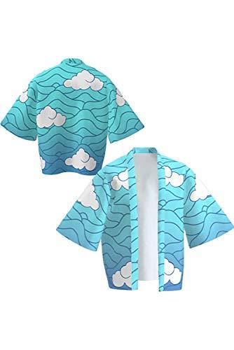 SETHOUS Cloak Tanjirou Nezuko Giyuu Zenitsu Shinobu Cosplay Traje Kimono Albornoz Pijamas Cardigan para niños