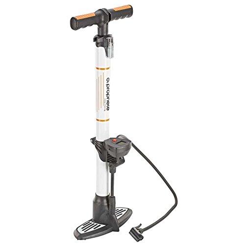 Prophete Hochleistungs-Alu-Standluftpumpe mit Digitalmanometer Fahrradluftpumpe, Silber/Schwarz, M