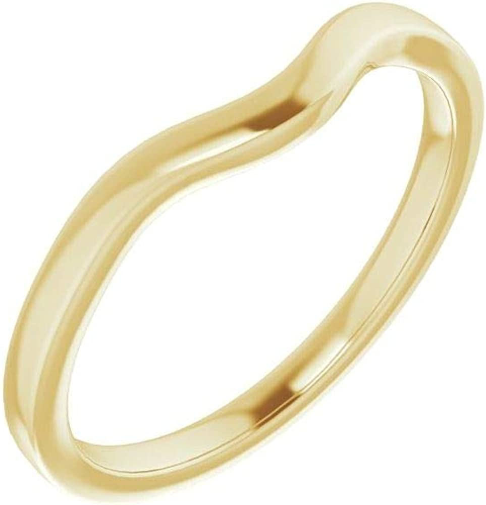 10kt Yellow Gold Band Fashionable for 5mm Japan Maker New 7 Asscher Ring in Size