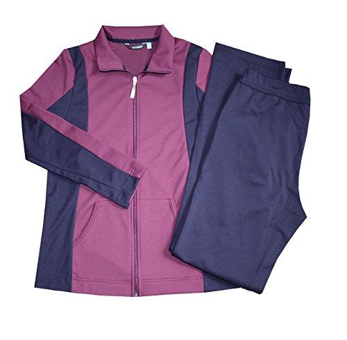 Schneider Sportswear Anzug Freizeitanzug Damen Trainingsanzug, Hausanzug (40, aubergine/dunkelblau)