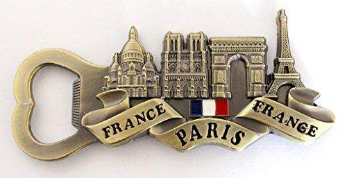 aimant magnet de frigo souvenir de France Paris métal cadeaux décapsuleur G83 (bronze)