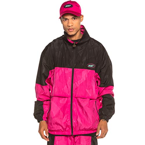 GRIMEY Track Jacket Mysterious Vibes FW19 Pink-XS