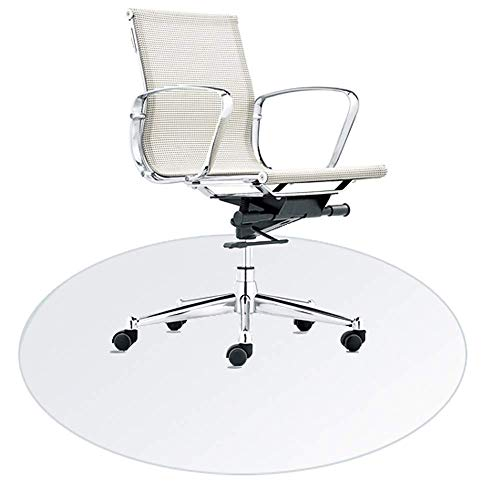 Transparent Chair Mat, Round Carpet Protector Chair Mat, Floor Mats for Office, Waterproof, High Temperature Resistant, Easy to Clean - 4 (Color : Clear, Size : 120Cm/47.2 Inch)