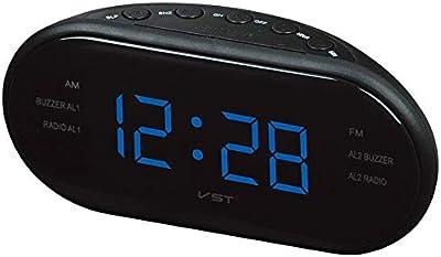 Sinzong Reloj Despertador Reloj Despertador Digital Led Radio FM ...