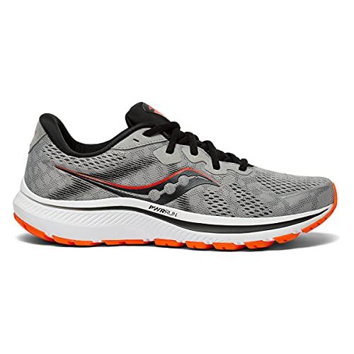 Saucony Men's Omni 20 Running Shoe, Alloy/FIRE, 10