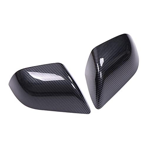 AZJ-AJR Cubierta de Espejo de Coche, Plástico ABS Dirección retrovisor Lateral del Coche Carcasa Protectora Apto para Tesla Model 3 2017 2018 2019