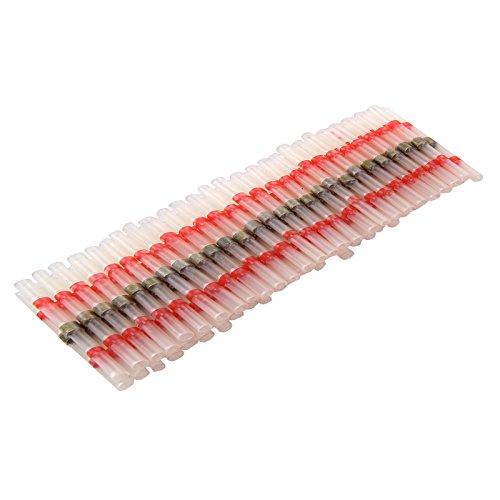 MultiWare 50 Stück Lötverbinder 0.5-1.0 mm² Rot Kleber Schrumpfverbinder...