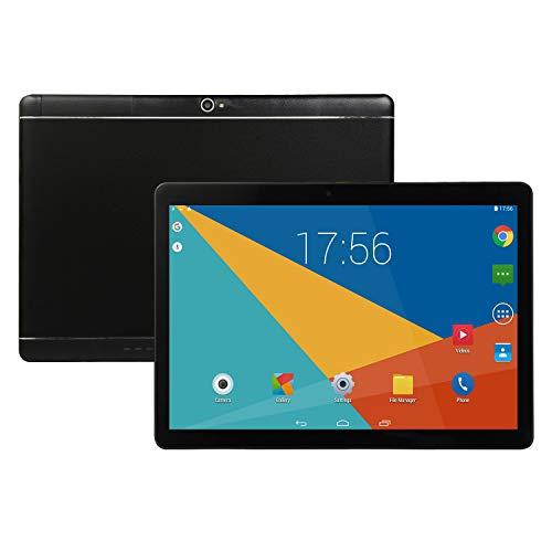 Ocamo Geburtstagsgeschenk, 10-Zoll-Tablet Android 8.0 6 + 64 GB Tablet-PC mit TF-Kartensteckplatz und Dual-Kamera schwarz EU-Stecker