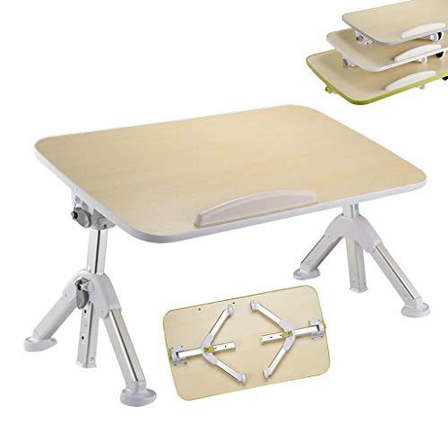 Pkfinrd Aluminium bureauhouder voor laptop, permanente werkbank, slaapbank, ontbijtplank, multifunctionele bureau, in hoogte verstelbaar, hoek verstelbaar, opvouwbaar Small Wit