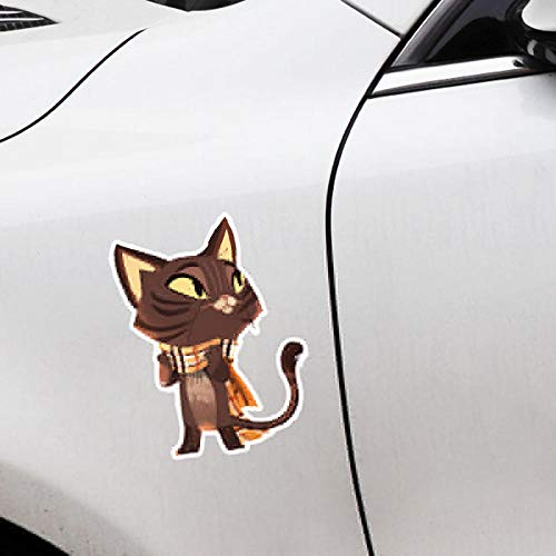 ZQZL 13,3 CM * 17 CM Gato Animal Personalizado para Motocicleta Coche Pegatina PVC