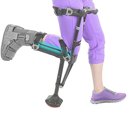 GKPLY Andador de Rodilla orientable, muleta de Rodilla Ajustable de Mano Libre, Apoyo de Movilidad de muleta de Rodilla para Lesiones/discapacidades/Soportes para Ancianos, para Soportes