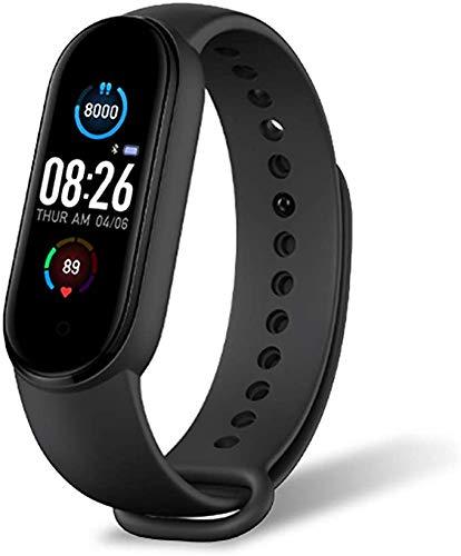 Smartwatch,Pantalla de Reloj Inteligente Impermeable IP67 con Pulsómetros , Pulsera de Actividad Inteligente con Monitor de Sueño Contador de Caloría Cronógrafo para Niños Mujeres Hombres