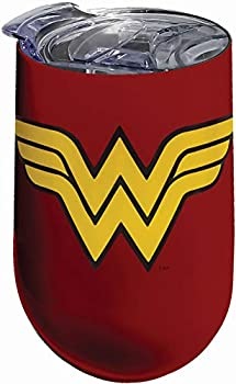 Spoontiques Wonder Woman Logo Stainless Tumbler One Size Red