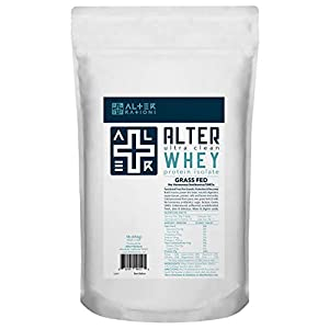 Alter + WHEY | Premium Ultra Clean Grass Fed Whey Protein Isolate | for Strength & Immunity | Ultra Pure & Potent. Hypoallergenic. Professional Grade. (1 lb)