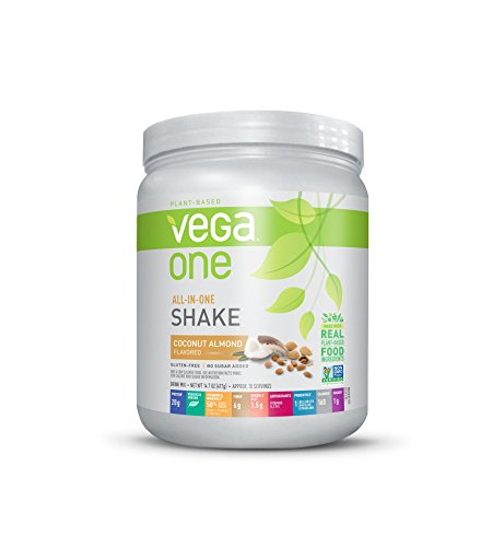 Vega One All-In-One Nutritional Shake Coconut Almond (10 Servings, 14.7 Ounce) - Plant Based Vegan Protein Powder, Non Dairy, Gluten Free, Non GMO