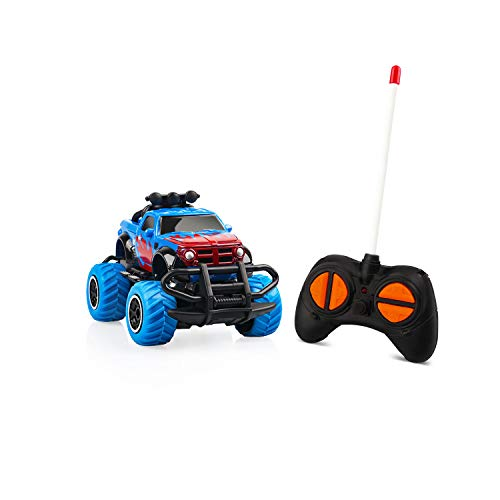 Small Size Remote Control Car for Boys 3-5 Indoor Mini Car Toys for Boys Remote Control Car Rc Truck Toddlers Learning Toys Rc Car Battery Jeep Car for Boys Chrismas Birthday Gift 3 4 5 Year Old Blue