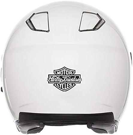 Reflektierende Aufkleber Für Helm Harley Davidson Logo Schwarz Auto