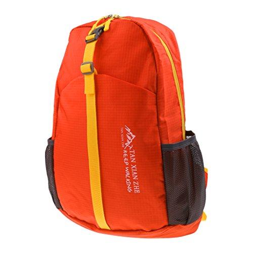 Sharplace Sac à Dos Pliable de Sport Extérieur Sport Accessoire - 28 x 43 x 14 cm, Orange