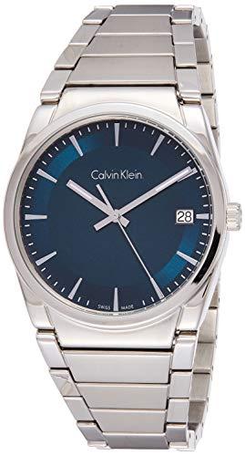 Calvin Klein Herren Analog Quarz Uhr mit Edelstahl Armband K6K3114L
