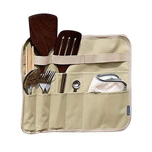 Bolsa de almacenamiento de vajilla Oxford para camping, cubiertos, cajón portátil, para colgar los platos plegables, ganchos para picnic, bolsa cuadrada para camping, picnic