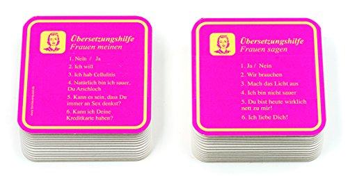 Unbekannt Glasuntersetzer Bierdeckel 30 Stück Übersetzungshilfe (Frauen)