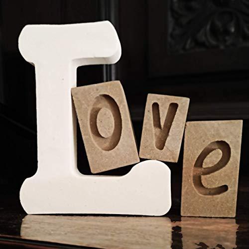 LOVE Letras Decorativas en Piedra - Hecho a Mano en Italia -...