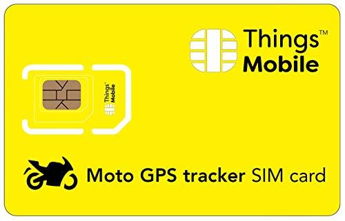 SIM Card per MOTO GPS TRACKER Things Mobile con copertura globale e rete multi-operatore GSM 2G 3G 4G LTE, senza costi fissi, senza scadenza e tariffe competitive, con 10 € di credito incluso