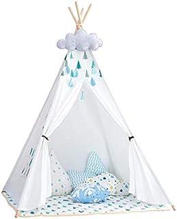 little dove Tält för barn - 100 % naturligt bomullscanvas lektält för barn (med madrass).