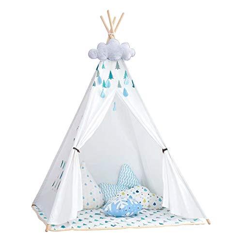 Little Dove Tienda para niños – 100% Natural algodón Lona de Tienda de Juego para niños – Incluye Alfombrillas
