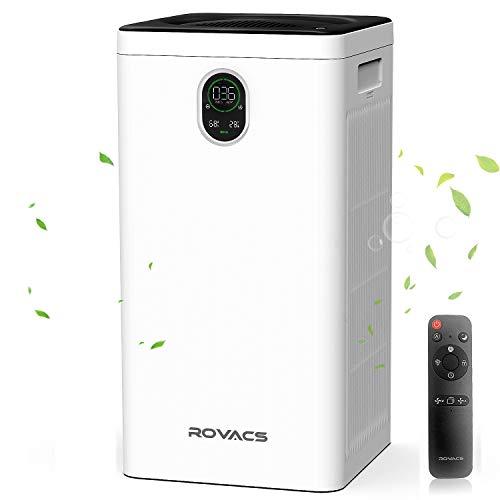 ROVACS Purificador de Aire con Filtro HEPA H13 Verdadero, Cubre 38-66㎡, CADR: 520M³/H, Air Purifier purifica el 99,97% de partículas alérgicas, Polen, Humo, caspa de Mascotas, olores (RV550-L)