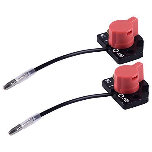 LETAOSK 2stk On-Off One Wire Motorstoppschalter Fit für Robin Subaru EX13 EX17 EX21 EX27 EX30 EX35 EX40 EH36