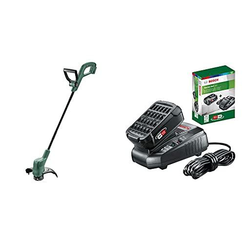 Bosch Coupe-Bordures sans Fil EasyGrassCut 18 (sans Batterie, diamètre de Coupe: 26cm) & Kit de démarrage - Pack Batterie et Chargeur pour Outils sans Fil 18 V (1X Batterie 2,5 Ah, 1X Chargeur)